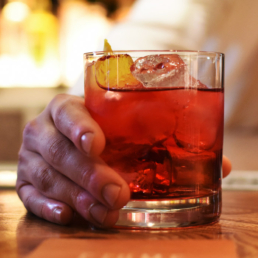 Negroni Cocktail on Bar