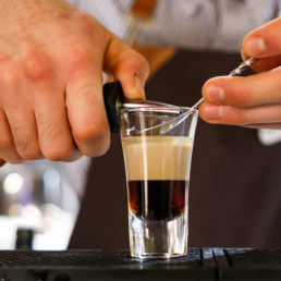 Pouring a B-52 Cocktail
